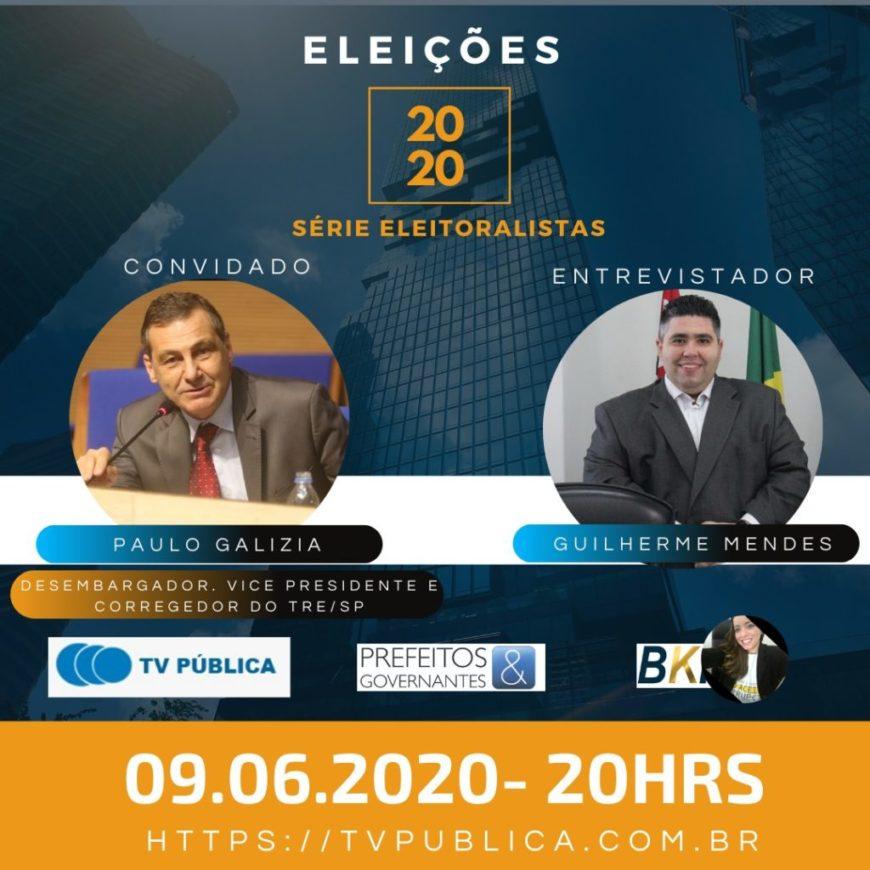 Debate das eleições municipais 2020.