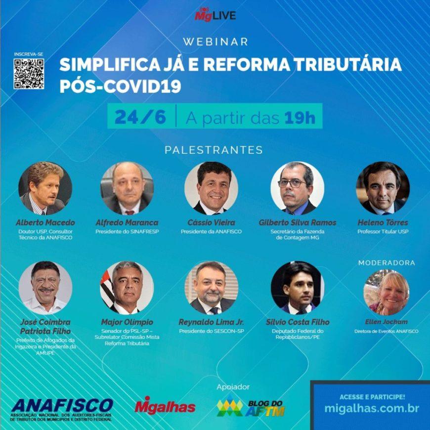 Webinar: Simplifica Já e a reforma tributária pós-covid.
